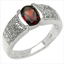 Damen Ring Salomé, 925er Silber, 1,6 Kt. Granat, Gr. 55