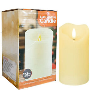 Christmas Flame Flickering Candles Battery Operated Cole & Bright Timer NEW