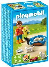 BNIB Playmobil 5126 FARM Country Girl with Cat Family