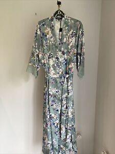 debenhams Pansy Long Wrap Aop (kimono)
