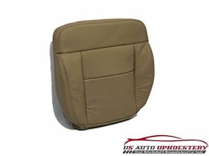 2008 Ford F150 Lariat Driver Side Bottom  Leather Seat Cover neutral/Tan
