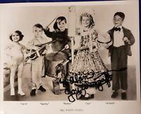 Little Rascals Joy Lane Wurgaft Autographed Photo 8×10