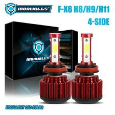 New listing High or Low 4-Sides H8 H9 H11 Led Headlight Bulbs 2000W 300000Lm 6500K Fog Kit