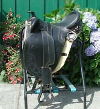 "Genuine Draft Horse 17"" Australian saddle BLACK"