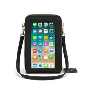 Women Mobile Phone Bag Crossbody Pu Leather Mini Purse Wallet Shoulder Bag Pouch