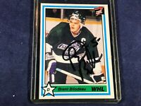 G3-19 HOCKEY CARD - BRENT BILODEAU SEATLE THUNDE - 1991 7TH INNING - AUTOGRAPHED
