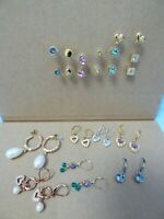 NEW GIFT BOXED QUALITY COSTUME JEWELLERY FRENCH JET EARRINGS JOB LOT OF 24