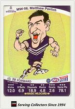 2011 AFL Teamcoach Cards Magic Wild Card MW6 Matthew Pavlich (Fremantle)
