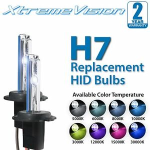 XtremeVision H7 HID Xenon Replacement Bulbs - 4300K 5000K 6000K 8000K 10000K