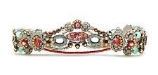 "AYALA BAR Azuline Classic Collection  Swarovski Crystal Silver Bracelet 7"""