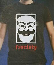 Loot Crate Exclusive Mr Robot TV Show Fsociety Mask Logo Black T Shirt XL Rare