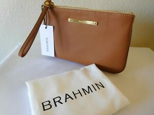 New BRAHMIN SALLY Smooth Leather Wristlet, Clutch, Pouch