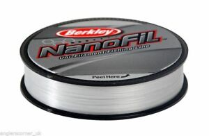 Berkley Nanofil Transparent Brouillard Ligne /125m/270m/ Tout Breaking Strains