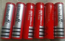 6 pieces ULTRA FIRE 18650 Battery 3.7V 5800mAh Rechargeable Batterys  -imported