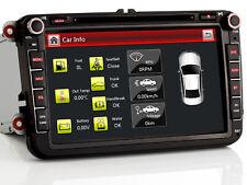 "8"" Autoradio NAVI GPS BT DVD Für VW PASSAT CC GOLF 5 6 TIGUAN TOURAN Sharan POLO"
