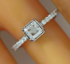 0.77 ct solitaire real diamond engagement  ring 18k  white gold wedding rings