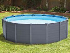 Intex 28382 Graphite Panel Frame 478 x 124 cm Stahlrahmen Swimming Pool Komplett