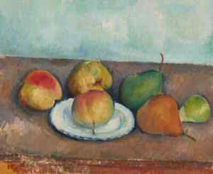 Paul Cézanne, Apples and Pears Painting 1880s–90s. - High-Quality Canvas Print