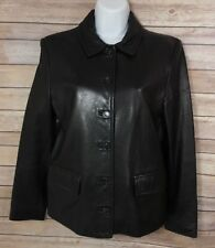 J. Crew Women's Leather Black Jacket Size M Made In USA