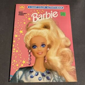 Vintage Barbie Giant Coloring / Activity Book Golden Books 1992 Unused