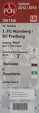 TICKET 2012/13 1. FC Nürnberg - SC Freiburg