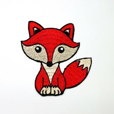 Red Fox Wolf Hunting Animal Cartoon DIY Kids Clothes Jacket Shirt Iron on Patch