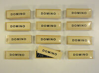12 NEW DOMINO SETS DOUBLE SIX DOMINOES 28 PIECES PER SET WITH WOOD BOX