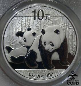 2010 China 10 Yuan PANDA 1oz Silver .999 Coin PCGS MS70 w/COA & Pouch