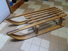 Ancienne luge traineau bois déco chalet montagne Savoie vintage old sledge toys