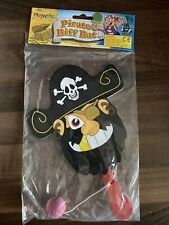 Wooden Pirate Biff Paddle Bat And Ball Game Pocket Money Toy
