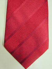 NEW Harrods of London Red With Stripes Handmade Silk Tie