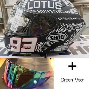 Full Face Motorcycle helmet 93X14 Riding Black Racing Spirit Moto Ride Helmet