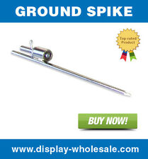 Ground Spike for Feather Teardrop Flag Free Spinning Stake Mount