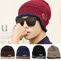 Winter Warm Hat For Men Women Cotton Beanie Knitted Ski Outdoor Caps Hats Unisex