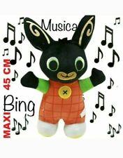 BING PELUCHE PUPAZZO MAX CONIGLIO BUNNY MUSICA SUONA CANTA 45 CM