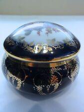 Limoges Fruit Design  --  Trinket Box / Powder Jar -- Looks Great - Unusual Find