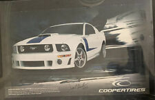 Jack Roush AUTOGRAPHED Roush Mustang Cooper Tires 20x33 Signed Promo Poster