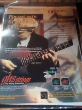 1998 PRINT PHOTO AD FOR GHS GUITAR STRINGS PHIL KEAGGY