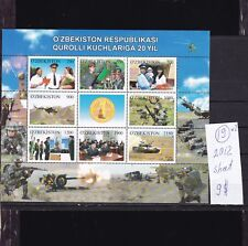 Uzbekistan   2012  MNH   sheet.20 Years Army.See scan.
