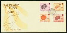 MayfairStamps Falkland Islands 4 Shell Stamps First Day Cover WWG7983