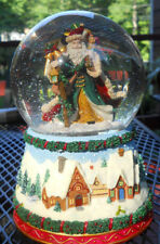 Vintage Jolly Old St. Nick SanFrancisco Music Box Co. Snow Globe