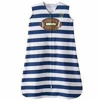 Halo Velour Sleepsack Wearable Blanket Football Stripe - Sizes Small & Medium