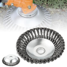 """8"""" Solid Steel Wire Wheel Garden Weed Brush Lawn Mower Head Trimmer Accessories"""