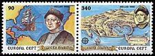 Greece 1992 Mi 1802-03 A ** Union Europa Cept Christopher Columbus Ship Schiff