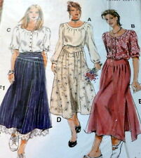 VTG BLOUSE & SKIRT Sewing Pattern SIZE 12-24 UNCUT