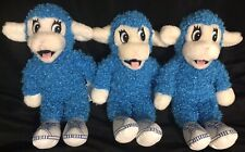 "Plush Monkey Trio 11"" Blue Small Stuffed Animals White Sneakers with A Voice Box"