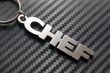 CHEF Master Chef Cook Keyring Keychain Key Fob Bespoke Stainless Steel Gift