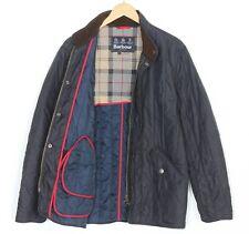 BARBOUR DRESS TARTAN Navy Blue Quilt Padded Jacket Men Size L MJ1867