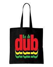 DUB REGGAE Logo Borsa A Tracolla Cotone-Rasta Bob Marley rastafariana