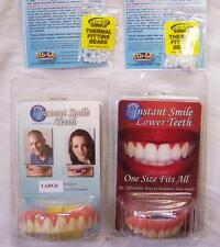 COMBO SET VENEERS BOTTOM AND SMALL TOP INSTANT SMILE TEETH 2 PACK EXTRA BEADS